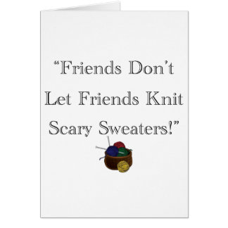 Scary Sweaters! Card