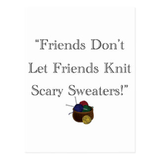 Scary Sweaters! Postcard