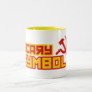 Scary Symbol Hammer and Sickle Two-Tone Coffee Mug