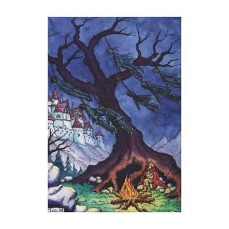 scary tale fairytale illustration canvas print