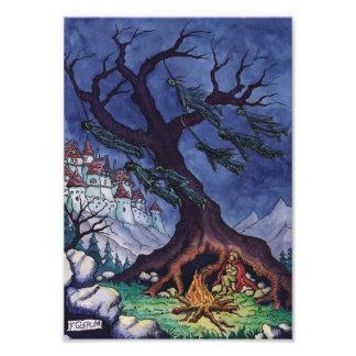 scary tale fairytale illustration photo print