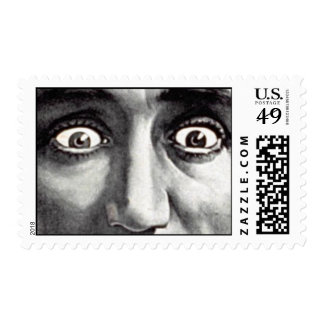 Scary The Eyes Postage Stamp