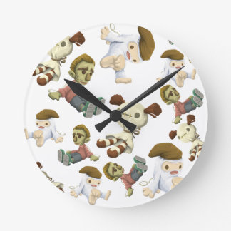 Scary Toys Round Clock