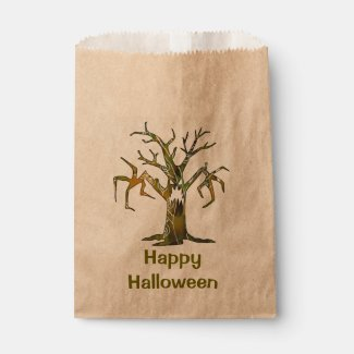 Scary Tree & Happy Halloween custom favor bag