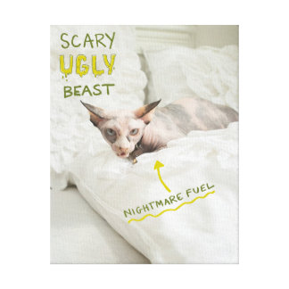 Scary Ugly Cat Canvas Print