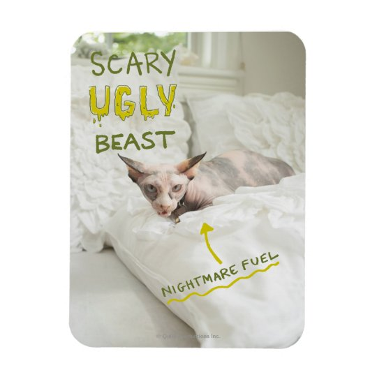 Scary Ugly Cat Magnet