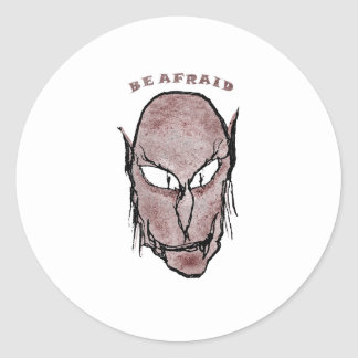 Scary Vampire Drawing Classic Round Sticker