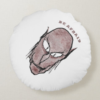 Scary Vampire Drawing Round Pillow