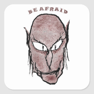 Scary Vampire Drawing Square Sticker