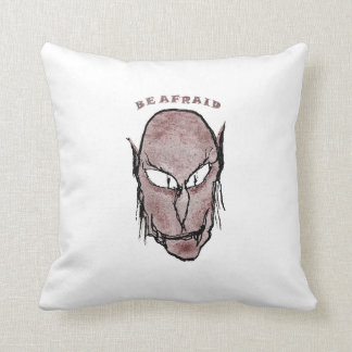 Scary Vampire Drawing Throw Pillow