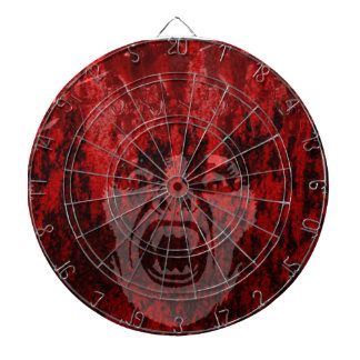 Scary Vampire Lady in Blood Dartboard