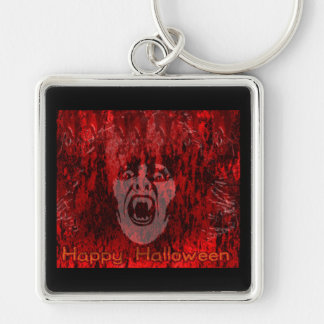 Scary Vampire Lady in Blood Keychain