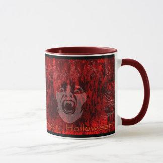 Scary Vampire Lady in Blood Mug