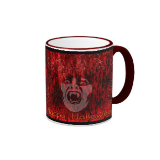 Scary Vampire Lady in Blood Mug