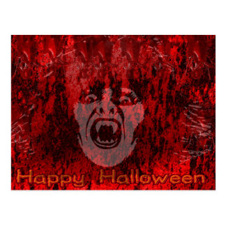 Scary Vampire Lady in Blood Postcard