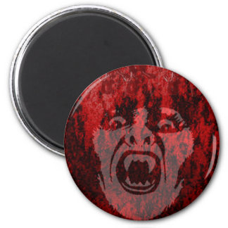 Scary Vampire Lady in Blood Round Magnet