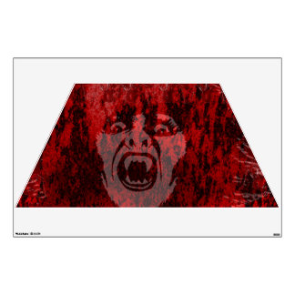 Scary Vampire Lady in Blood Wall Decal