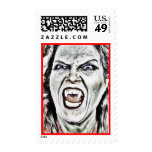 Scary Vampire Postage Stamp