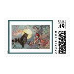 Scary Vintage Owls and Fairies - Maybank Halloween Stamp