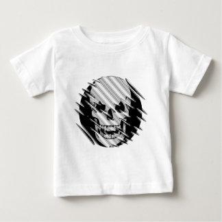 Scary Wavey Skull Baby T-Shirt