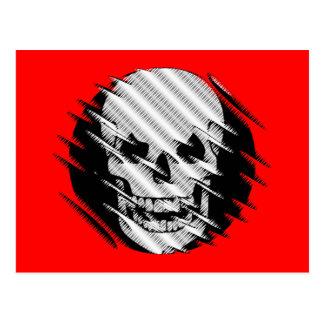 Scary Wavey Skull Postcard