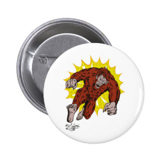 scary werewolf attacking you 2 inch round button
