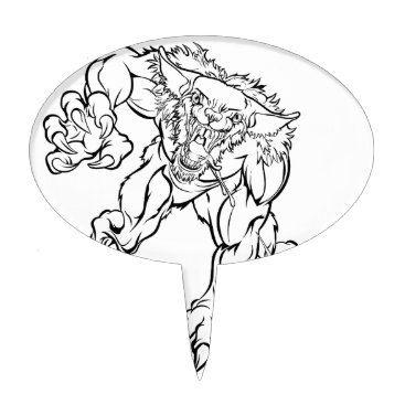 Halloween Themed Scary Werewolf  Monster Character Cake Topper