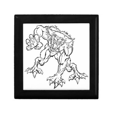 Halloween Themed Scary Werewolf  Monster Character Gift Box