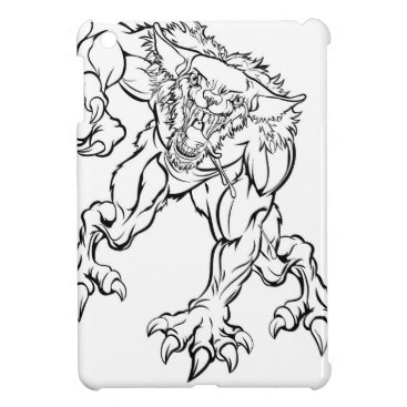 Halloween Themed Scary Werewolf  Monster Character iPad Mini Cover