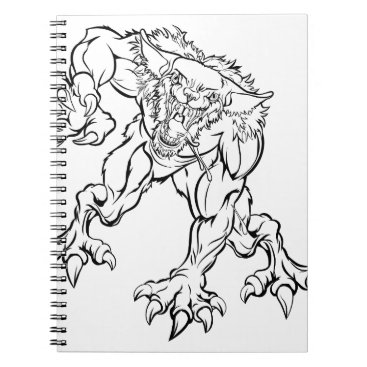 Halloween Themed Scary Werewolf  Monster Character Notebook