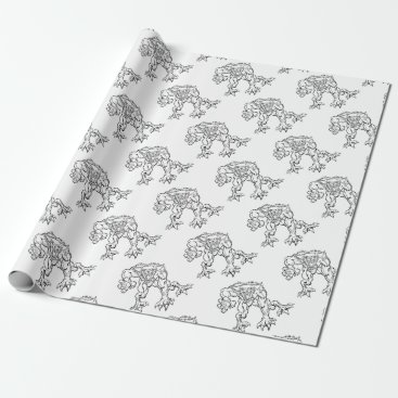 Halloween Themed Scary Werewolf  Monster Character Wrapping Paper