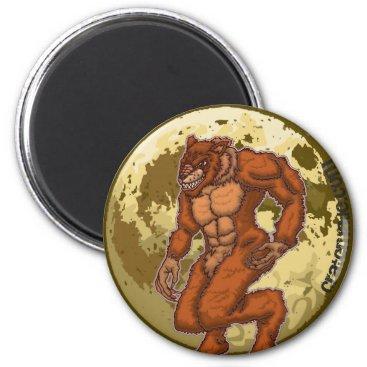 Halloween Themed Scary Werewolf Moon magnet