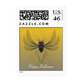 Scary Winged Bug For Halloween Postage