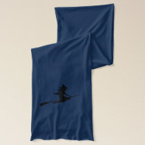 Scary Witch and Broom Scarf