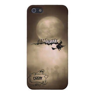 Scary Witch Ghost Cemetery Happy Halloween iPhone SE/5/5s Case