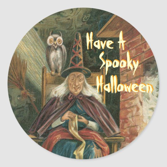 Scary Witch Halloween Stickers