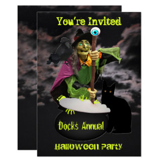 Scary Witchcraft Invitation