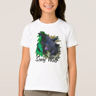 Scary Wolf fun Wildlife Art T-Shirt