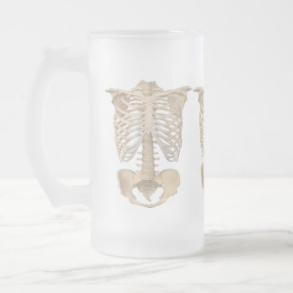 Scary Zombie Cage Skeleton Halloween Party Frosted Glass Beer Mug