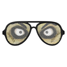 Scary Zombie Eyes Aviator Sunglasses at Zazzle