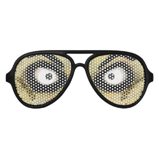 Scary Zombie Eyes Aviator Sunglasses