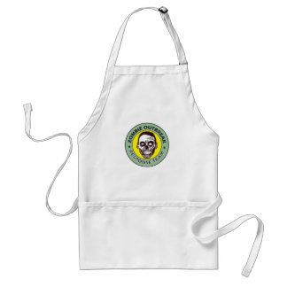 Scary zombie face.  Zombie Outbreak Response Adult Apron