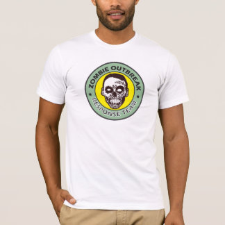 Scary zombie face.  Zombie Outbreak Response T-Shirt