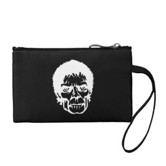 Scary Zombie Monster Face Coin Purses