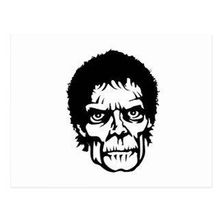 Scary Zombie Monster Face Post Cards