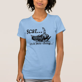 scat - it's a jazz thing tank tops