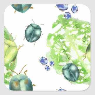 Scatter Beetle Square Sticker