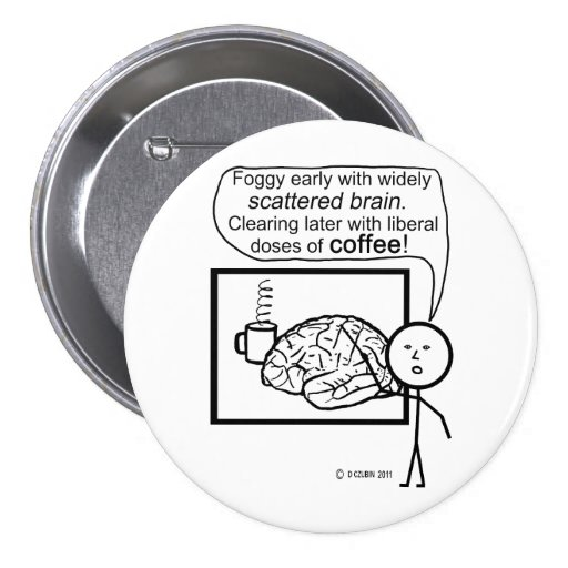 Scatter Brain Coffee Buttons