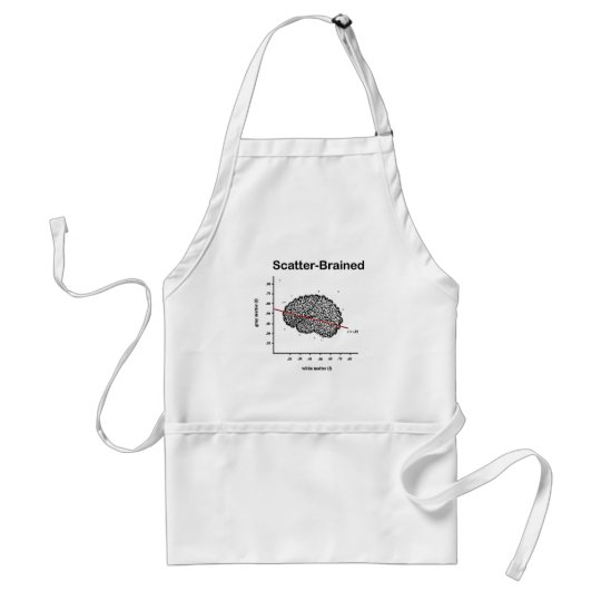 Scatter-Brained Adult Apron
