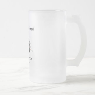 Scatter-Brained Frosted Glass Beer Mug